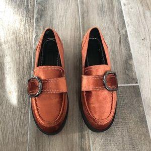 Velvet platform asos design loafers